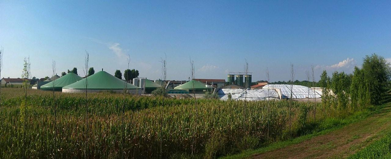 Usine de méthanisation agricole