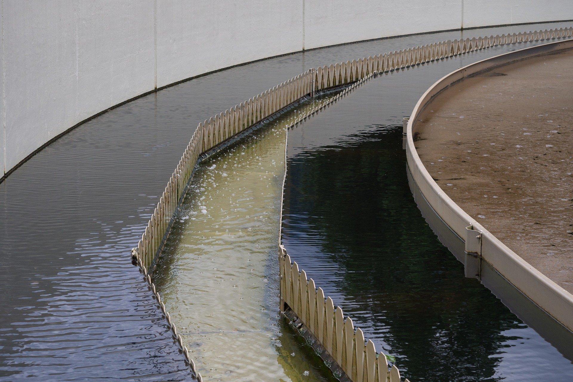 Traitement des eaux dans une station d'épuration